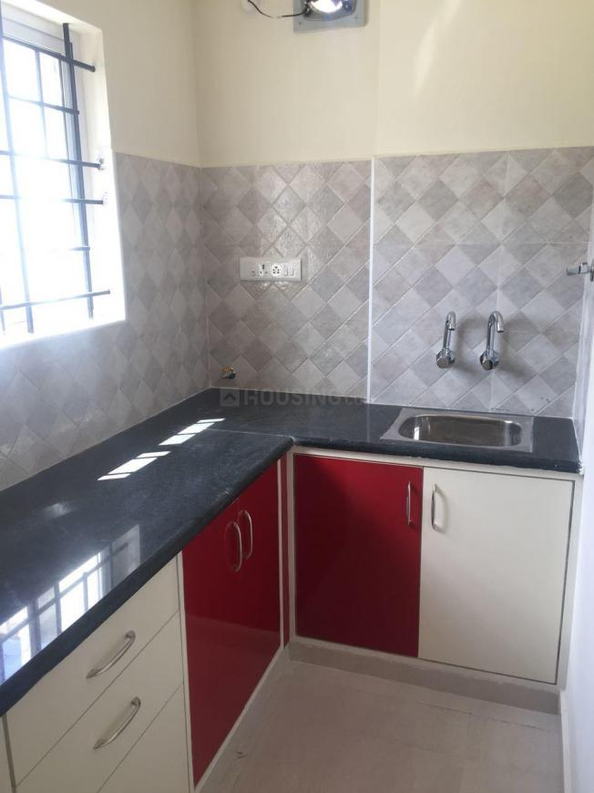Kitchen Image of 700 Sq.ft 1 BHK Independent House for rent in Murugeshpalya for 16000