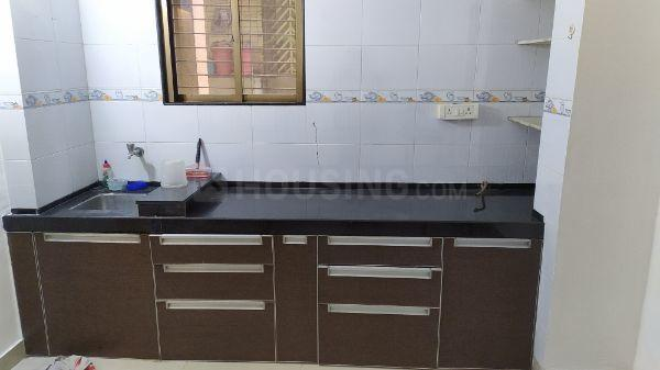Kitchen Image of 600 Sq.ft 1 BHK Apartment for rent in Thane West for 25000