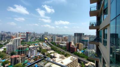 Balcony Image of 1250 Sq.ft 2 BHK Apartment for rent in Sheth Auris Serenity Tower 1, Malad West for 55000