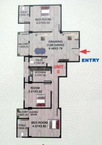 Gallery Cover Image of 1370 Sq.ft 3 BHK Apartment for buy in AHOM GAON for 5780000