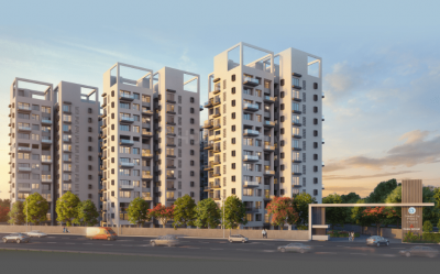 Gallery Cover Image of 1027 Sq.ft 3 BHK Apartment for buy in Celestial City Phase II Building A E H, Ravet for 8614500