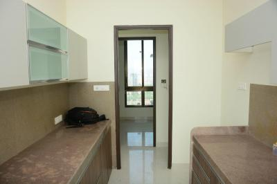 Kitchen Image of 936 Sq.ft 3 BHK Apartment for rent in Wadhwa Atmosphere Phase 1, Mulund West for 46000