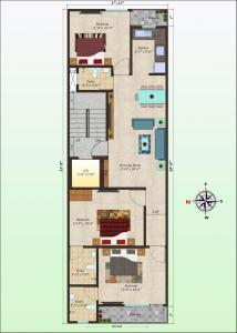 Gallery Cover Image of 1000 Sq.ft 3 BHK Independent Floor for buy in Khanpur for 5200000