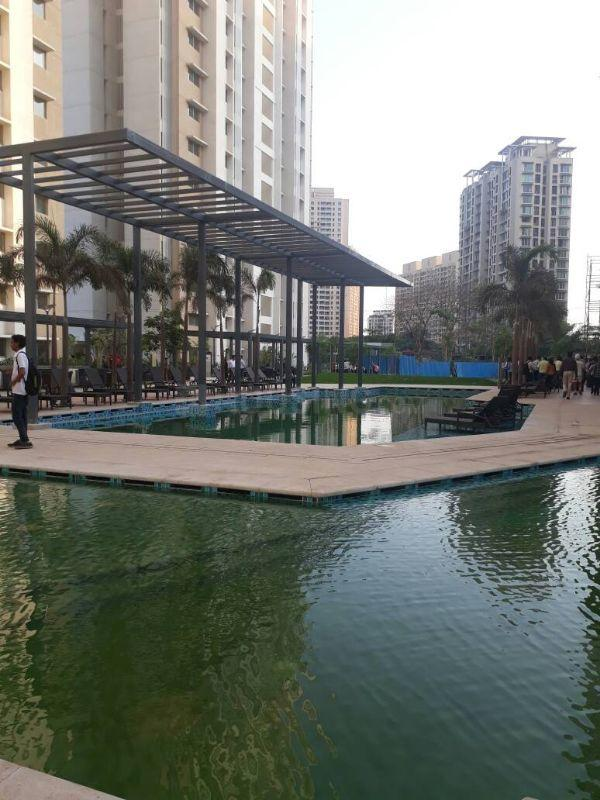 Swimming Pool Image of 1540 Sq.ft 3 BHK Apartment for buy in Thane West for 17800000