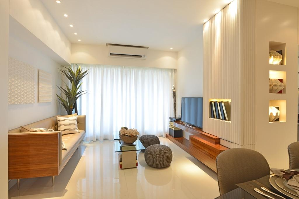 Living Room Image of 910 Sq.ft 2 BHK Apartment for rent in Thane West for 23000