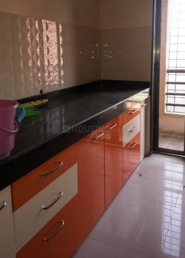 Kitchen Image of 595 Sq.ft 1 BHK Apartment for rent in Thane West for 20000