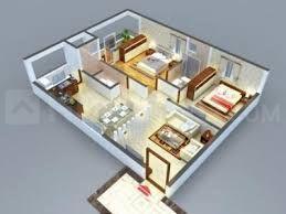Floor Plan Image of 1425 Sq.ft 3 BHK Apartment for buy in Sahiti Sarvani Elite, Aminpur for 4420000