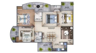 Gallery Cover Image of 1800 Sq.ft 4 BHK Apartment for buy in Sector 72 for 4299000
