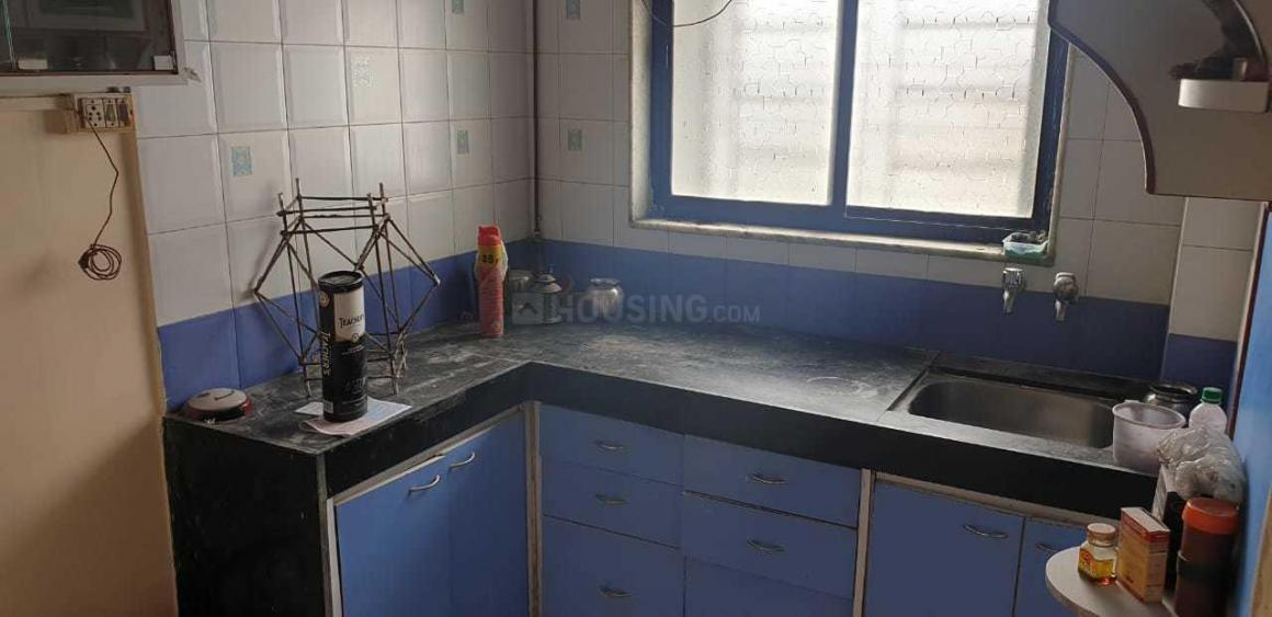 Kitchen Image of 600 Sq.ft 1 BHK Apartment for rent in Thane West for 20000