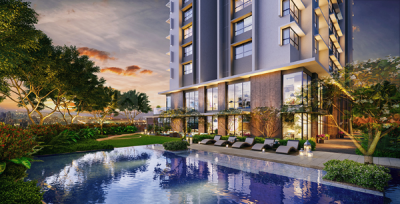 Gallery Cover Image of 775 Sq.ft 2 BHK Apartment for buy in Kalpataru Elegante, Kandivali East for 15400000