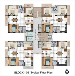 Gallery Cover Image of 1021 Sq.ft 2 BHK Apartment for buy in Kukatpally for 3368279
