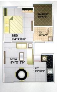 Gallery Cover Image of 504 Sq.ft 1 BHK Apartment for buy in Shreshtha Shreenath Heights, Rau for 1411000