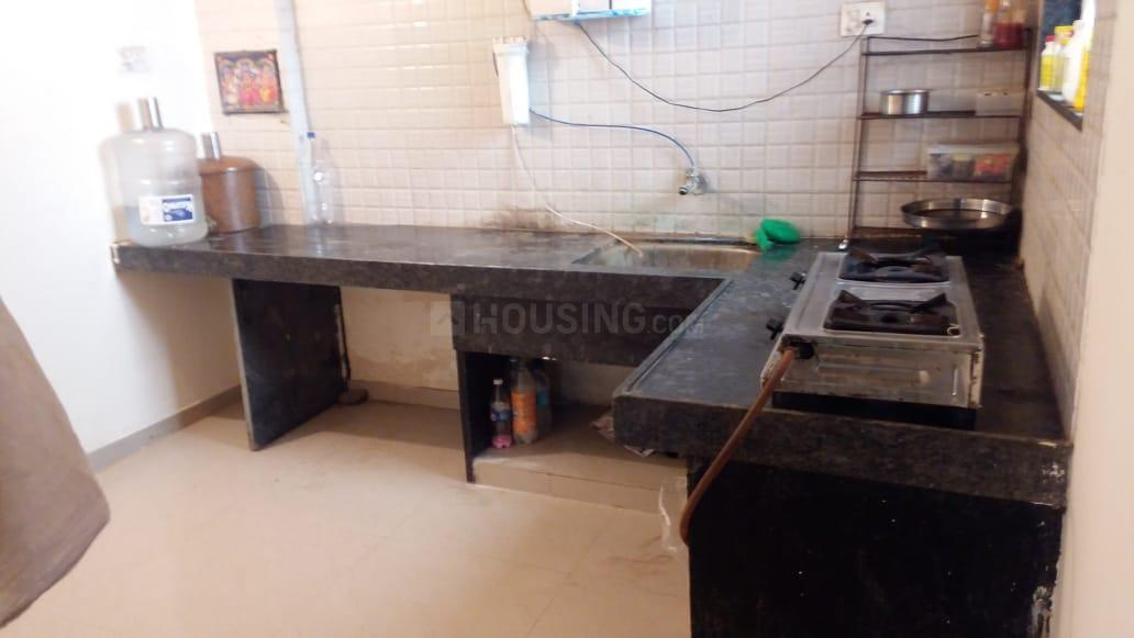 Kitchen Image of 563 Sq.ft 1 BHK Apartment for rent in Wagholi for 8500