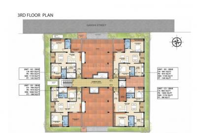 Gallery Cover Image of 1299 Sq.ft 3 BHK Apartment for buy in Kottivakkam for 10390701