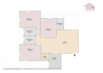 Gallery Cover Image of 1425 Sq.ft 3 BHK Apartment for buy in Mahaveer Kings Place, Kadugodi for 7500000