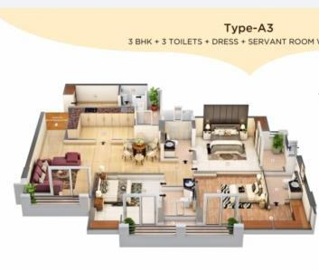 Gallery Cover Image of 2075 Sq.ft 3 BHK Apartment for buy in Chi I for 6640000