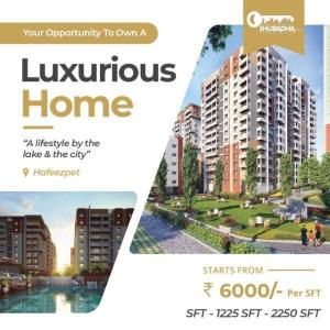 Gallery Cover Image of 1650 Sq.ft 3 BHK Apartment for buy in Hafeezpet for 9900000