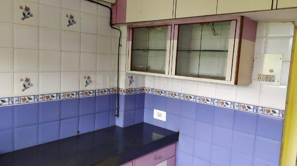 Kitchen Image of 600 Sq.ft 1 BHK Apartment for rent in Thane West for 22500