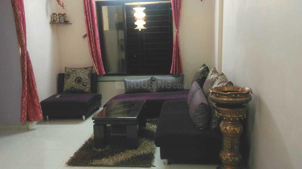 Living Room Image of 650 Sq.ft 1 BHK Apartment for rent in Kasarvadavali, Thane West for 14000