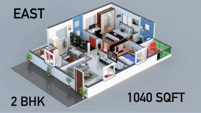 Gallery Cover Image of 1185 Sq.ft 2 BHK Apartment for buy in Bhuvanteza Aura, Kollur for 3800000