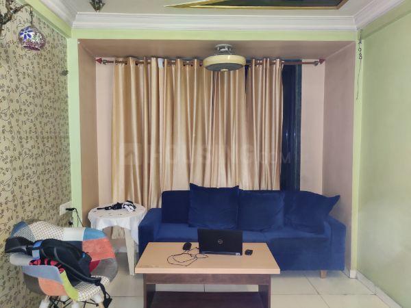 Living Room Image of 680 Sq.ft 1 BHK Apartment for rent in Kopar Khairane for 25000