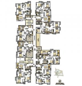 Floor Plan Image of 764 Sq.ft 2 BHK Apartment for buy in Srijan Natura, New Alipore for 6481859