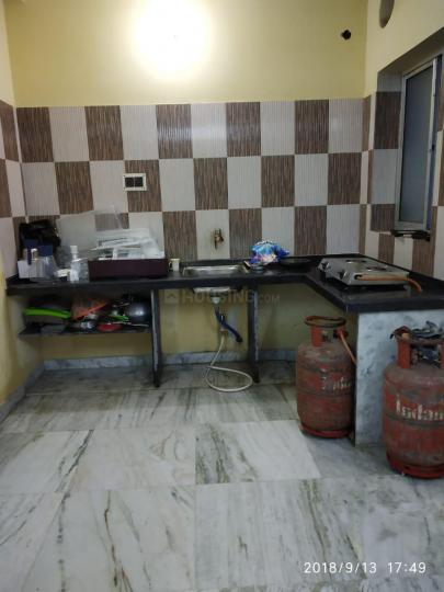 Kitchen Image of 350 Sq.ft 1 RK Apartment for rent in Paschim Putiary for 9000