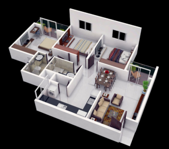 Gallery Cover Image of 1185 Sq.ft 2 BHK Apartment for buy in Kumaraswamy Layout for 3950000