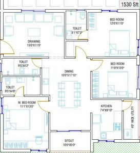 Gallery Cover Image of 1530 Sq.ft 3 BHK Apartment for buy in Miyapur for 7497000