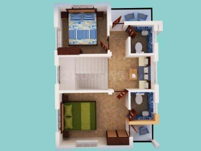 Floor Plan Image of 1100 Sq.ft 3 BHK Villa for buy in Gopalmath for 1980000