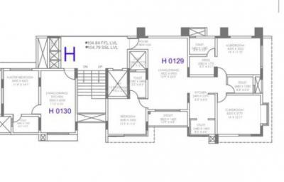 ब्रिगेड  वुड्स, व्हाइटफ़ील्ड  में 5800000  खरीदें  के लिए 622 Sq.ft 1 BHK अपार्टमेंट के फ्लोर प्लान  की तस्वीर