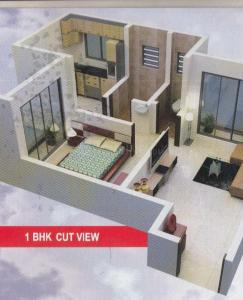 Gallery Cover Image of 540 Sq.ft 1 BHK Apartment for buy in Dombivli West for 2500000