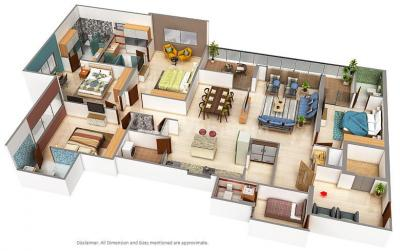 Gallery Cover Image of 2300 Sq.ft 4 BHK Apartment for buy in Thaltej for 22500000
