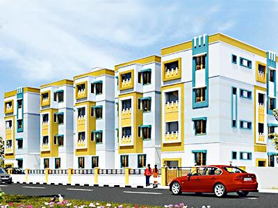 Gallery Cover Image of 492 Sq.ft 1 BHK Apartment for buy in Annai Aathika, Seerapalayam for 1300000