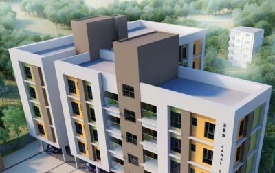 Gallery Cover Image of 1204 Sq.ft 3 BHK Apartment for buy in Gurukul Lakeview, Tangra for 6109000