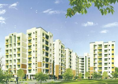 Gallery Cover Image of 1161 Sq.ft 3 BHK Apartment for rent in Clubtown Courtyard, Rajarhat for 12500