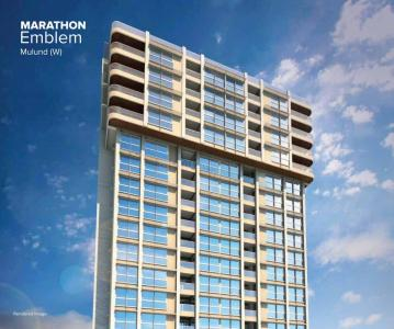 Gallery Cover Image of 1500 Sq.ft 3 BHK Apartment for rent in Marathon Emblem 1, Mulund West for 55000