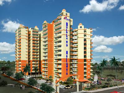 Gallery Cover Image of 1275 Sq.ft 3 BHK Apartment for rent in Bulland Heights, Crossings Republik for 8500
