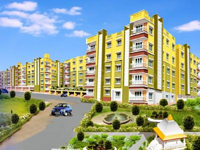 Gallery Cover Image of 792 Sq.ft 2 BHK Apartment for buy in Anandomoyee Apartment, Mourigram for 1950000