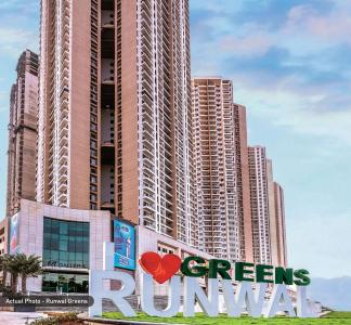 Gallery Cover Image of 1300 Sq.ft 3 BHK Apartment for buy in Runwal Greens Wing 5 To 8, Bhandup West for 22500000