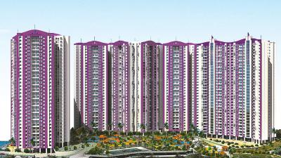 Gallery Cover Image of 1050 Sq.ft 3 BHK Apartment for rent in Puraniks Rumah Bali, Thane West for 21000