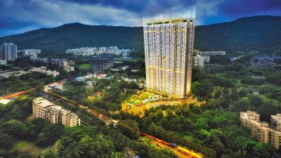 Gallery Cover Image of 1150 Sq.ft 2 BHK Apartment for rent in Transcon Tirumala Habitats, Mulund West for 42000