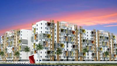 Gallery Cover Image of 1200 Sq.ft 3 BHK Apartment for rent in Modi Mayflower Grande, Mallapur for 19500