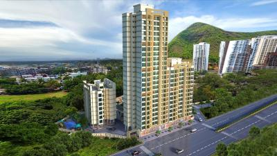 Gallery Cover Image of 670 Sq.ft 1 BHK Apartment for rent in Virat Green Avenue 1A, Shilphata for 13000