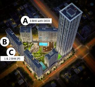 Gallery Cover Image of 600 Sq.ft 1 BHK Apartment for buy in Aubburn, Kandivali East for 10200000