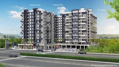 Gallery Cover Image of 850 Sq.ft 1 BHK Apartment for rent in Lunkad Anand Tarang C Building, Charholi Budruk for 8000