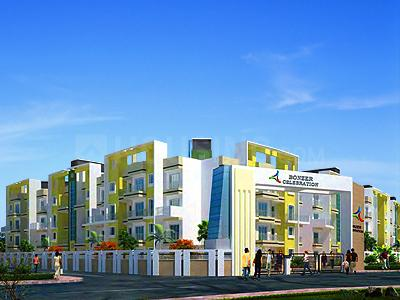 Gallery Cover Image of 550 Sq.ft 1 BHK Apartment for buy in Bonzer Celebrations, Shri Ram Nagar for 1700000