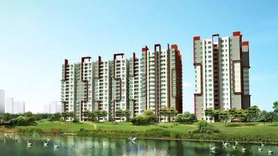 Gallery Cover Image of 1378 Sq.ft 3 BHK Apartment for rent in Emami Swanlake, Moosapet for 27000