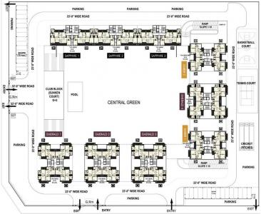 Gallery Cover Image of 1995 Sq.ft 3 BHK Apartment for buy in Turnstone The Medallion, JLPL Industrial Area for 10473750