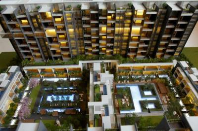 Gallery Cover Image of 3200 Sq.ft 3 BHK Apartment for rent in Marvel Sangria, Mohammed Wadi for 60000